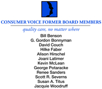 Consumer Voice Former Board Members